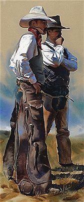 The Art of William Matthews He is most well known for his portrayal of the working cowboys from the great ranches of the American west.  The 1994 published monograph, Cowboys & Images: The Watercolors of William Matthews, chronicles a decade of the artist's work devoted to this subject.