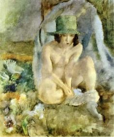 Nude with a Green Hat - Jules Pascin - The Athenaeum