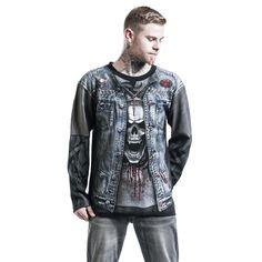 """#Maglia uomo a maniche lunghe """"Thrash Metal"""" del brand Spiral."""
