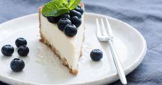 Fresco, White Plates, Blueberry, Cheesecake, Make It Yourself, Food, Fat Burning, Cakes, Kitchen