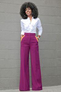 Ruffled Button Down + Contrast Pockets Wide Leg Pants // Fashion Look by Style Pantry Fashion Mode, Work Fashion, Fashion Pants, Fashion Looks, Fashion Outfits, Street Fashion, Emo Fashion, Gothic Fashion, Dress Fashion