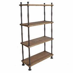 10 Metal & Wood Bookshelves for a Warm Industrial Look