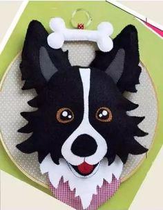 Dog Crafts, Felt Crafts, Paper Crafts, Dog Ornaments, Felt Christmas Ornaments, Fabric Animals, Felt Animals, Felt Dogs, Felt Patterns