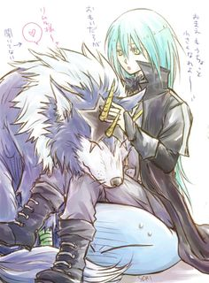 Tensei shitara slime datta ken by 芹ぬんてぃうす anime Otaku Anime, Manga Anime, Slime, Blue Hair Anime Boy, Anime Gifts, Cute Friends, Animation Film, Anime Comics, Fantasy World
