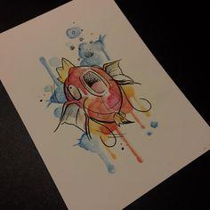 Magicarp watercolor Pokémon