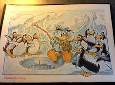 """Donald Duck - """"Il pescatore e i suoi supporters"""" - Pagina - Catawiki Illustrations And Posters, Donald Duck, Cartoon, Comics, Disney, Illustrations Posters, Cartoons, Comic, Comics And Cartoons"""
