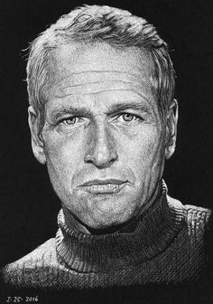 Pencil Portraits - Paul Newman par vanKristen - Discover The Secrets Of Drawing Realistic Pencil Portraits.Let Me Show You How You Too Can Draw Realistic Pencil Portraits With My Truly Step-by-Step Guide. Celebrity Caricatures, Celebrity Drawings, Celebrity Portraits, Portrait Au Crayon, Pencil Portrait, Portrait Art, Art Visage, Realistic Pencil Drawings, Horse Drawings