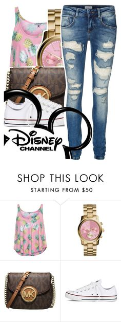 """""""-"""" by urqueen247 ❤ liked on Polyvore featuring Wildfox, Michael Kors, MICHAEL Michael Kors, Converse, Vero Moda and Disney"""