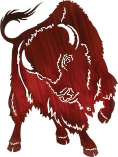 Buffalo Challenge Laser Cut Metal Wall Art