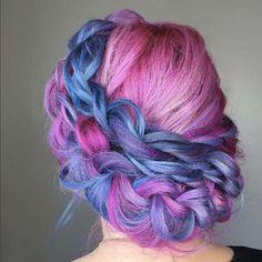 colorful crown braid.