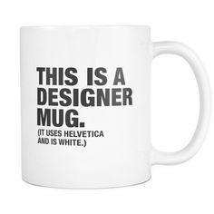 This is a designer mug