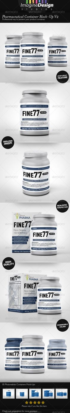 Pharmaceutical Container MockUp V2 — Photoshop PSD #pharmaceutical #medical • Available here → https://graphicriver.net/item/pharmaceutical-container-mockup-v2/4310970?ref=pxcr