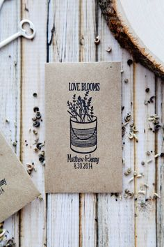 75 Customized Eco-Friendly Love Blooms Wedding Seed Favor