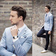 Resultado de imagem para icy blue fashion men