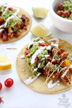 Making me hungry! Chicken Fajitas by @Marla Meridith on FamilyFreshCooking.com