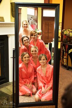 Bride and her Bridesmaids getting ready for the wedding day!  Photo by Britton Photography. Brides maids photos.