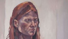 This is the actress Rose Leslie, painted by my wonderfully talented friend, Elizabeth Shields.