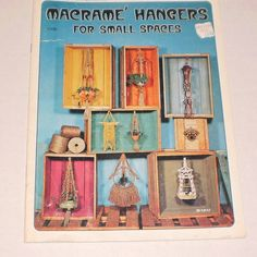 """Vintage Macrame Hangers For Small Spaces Instruction Book, Designs Ideal For Tiny Homes, Dorm Rooms, Patios, Projects 7 - 30"""" (18 - 76cm) by TheShoppingMoll on Etsy"""