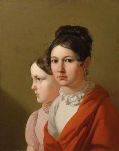 Künstler um 1820 Schwestern, Öl auf Leinwand, 63,5 x 50 cm