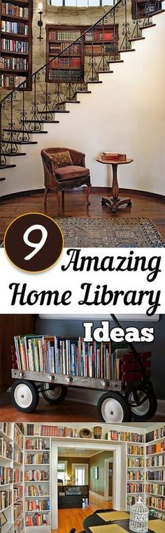 9 Incredible ways to make your home library beautiful.