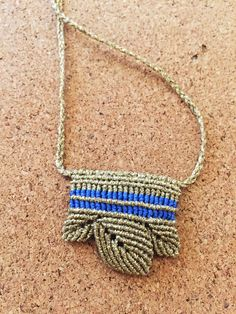 Ancient Greek style macrame necklace 🔹🔹🔹