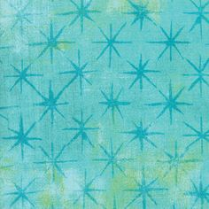 Pool Aqua from Grunge See Stars Collection by Basic Grey for Moda Fabrics Thing 1, Basic Grey, Grunge, Aqua, Quilts, Fabrics, Cotton, Handmade, Stuff To Buy