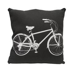 Bicycle Pillow in Gray   Dorm Room Decor   OCM.com