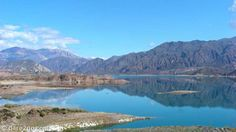 Embalse Potrerillos: lovely reflections, as seen from our camping site