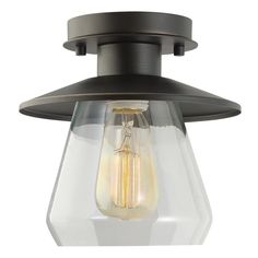 Features:  -Semi-Flush Mount: This vintage semi-flush mount ceiling light sits just off the ceiling making it a beautiful center piece.  -Dimmable: Fully dimmable with compatible dimmer switch to crea