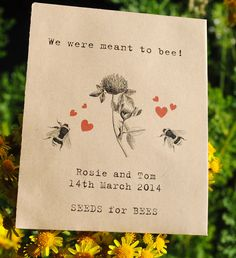 Now there's a novel idea! 'Grow your own' wedding favours for an environmentally friendly gift that will last a lifetime. We've got the pick of the crop.