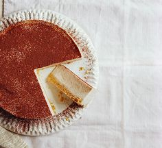 Healthier no-bake banana cheesecake: We've cut over 300 calories per slice from the classic cheesecake recipe, using banana to give a sweet creaminess to this dessert.