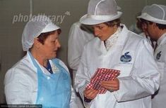 Princess Diana au Heritage Food Group fish factory, Thornaby, Cleveland,_ Décembre 1989