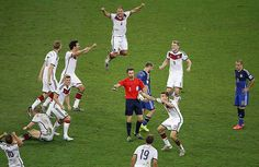 Credit: Chema Moya/EPA Here's the exact moment Italian referee Nicola Rizzoli blew the final whistle to make Germany the winners of the Worl...