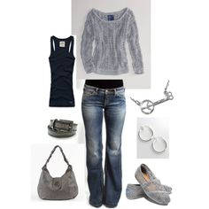 """Outfit"" by katy-behrens on Polyvore -**Love the jeans & sweater."