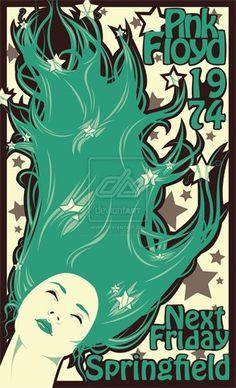 pink floyd concert posters | Pink Floyd Next Friday Concert Poster