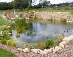 Natural Swimming Pools. Add vegetation and no chemicals are needed. You can even have a sandy beach entrance :)