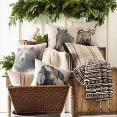 Pine Cone Hill Billy Pillow Ships Free, Goat Decorative Pillow #farmhousestyle #farmhouseliving #farmhousefurniture #farmhousehousedecor #farmhouse #lavenderfields