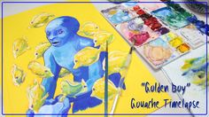 Gouache Painting Timelapse // What I'm Thinking When I'm Painting [CCP 2...
