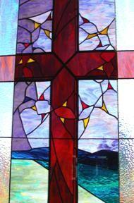 Religious Stained Glass Window Cross   Calendar & News, Messiah Lutheran Church North Platte Nebraska