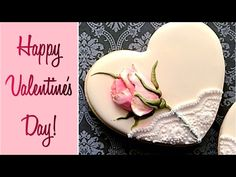 Beautiful Valentine's Rose Cookie  - YouTube