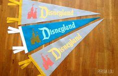 Persia Lou: DIY Vintage Disneyland Pennants