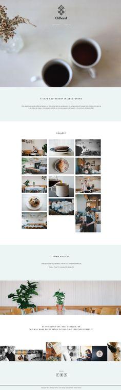 Love Oldhand Coffee's gorgeous, yet minimalist site running on Station Seven's Coastal theme #wordpress #webdesign
