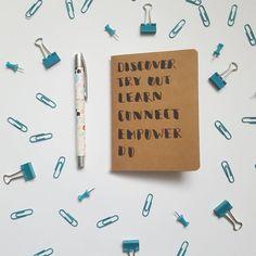 Handlettered Luloveshandmade notebook, photo taken by @kiezcouture (via Instagram)