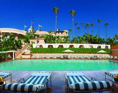 Beverly Hills Hotel. Beverly Hills, California. Enjoy a 'shoestring' priced burger by the pool yummy!