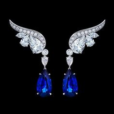 Gilan Saressa Earrings represents the life and emotion of the Legandary Birds with impeccable craftsmanship Sapphire Jewelry, Rose Gold Earrings, Dangle Earrings, Jewelry Design Drawing, Pakistani Jewelry, Dragon Jewelry, High Jewelry, Jewellery, Royal Jewels