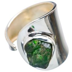 Chrome Diopside 925 Sterling Silver Ring Size 9 Adjustable Jewelry R596057 #AnaSilverCo