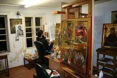 Byzantin Hagiography Workshop | PEMPTOUSIA St Basil's, Russian Orthodox, Orthodox Icons, Christianity, Design, Studio, Fathers, Greece, Saints