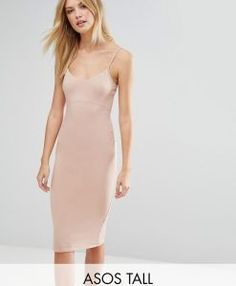 Browse online for the newest ASOS TALL Midi Cami Bodycon Dress styles. Shop easier with ASOS' multiple payments and return options (Ts&Cs apply). Pink Dress, Dress Up, Bodycon Dress, Clothing For Tall Women, Clothes For Women, Tall Dresses, Women's Dresses, Asos, Tube Dress