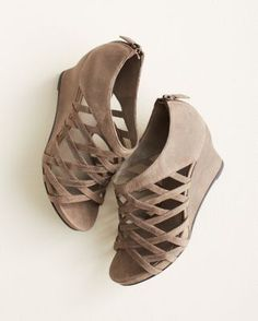 Eileen Fisher Cage Leather Wedges