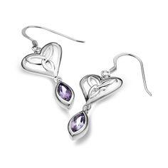 Celtic Heart Earrings - silver earrings - Silver by Mail Website